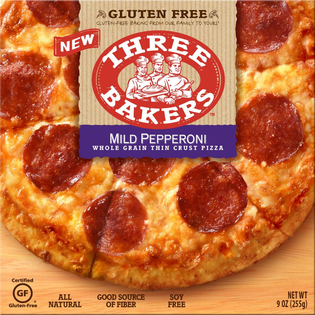 three bakers gluten free pepperoni pizza