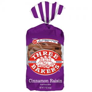 three bakers cinnamon raisin bread