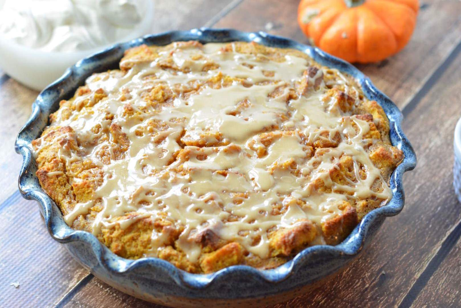 gluten free pumpkin bread pudding