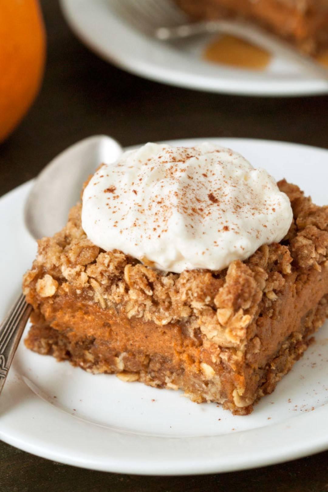 gluten free pumpkin pie streusel bars