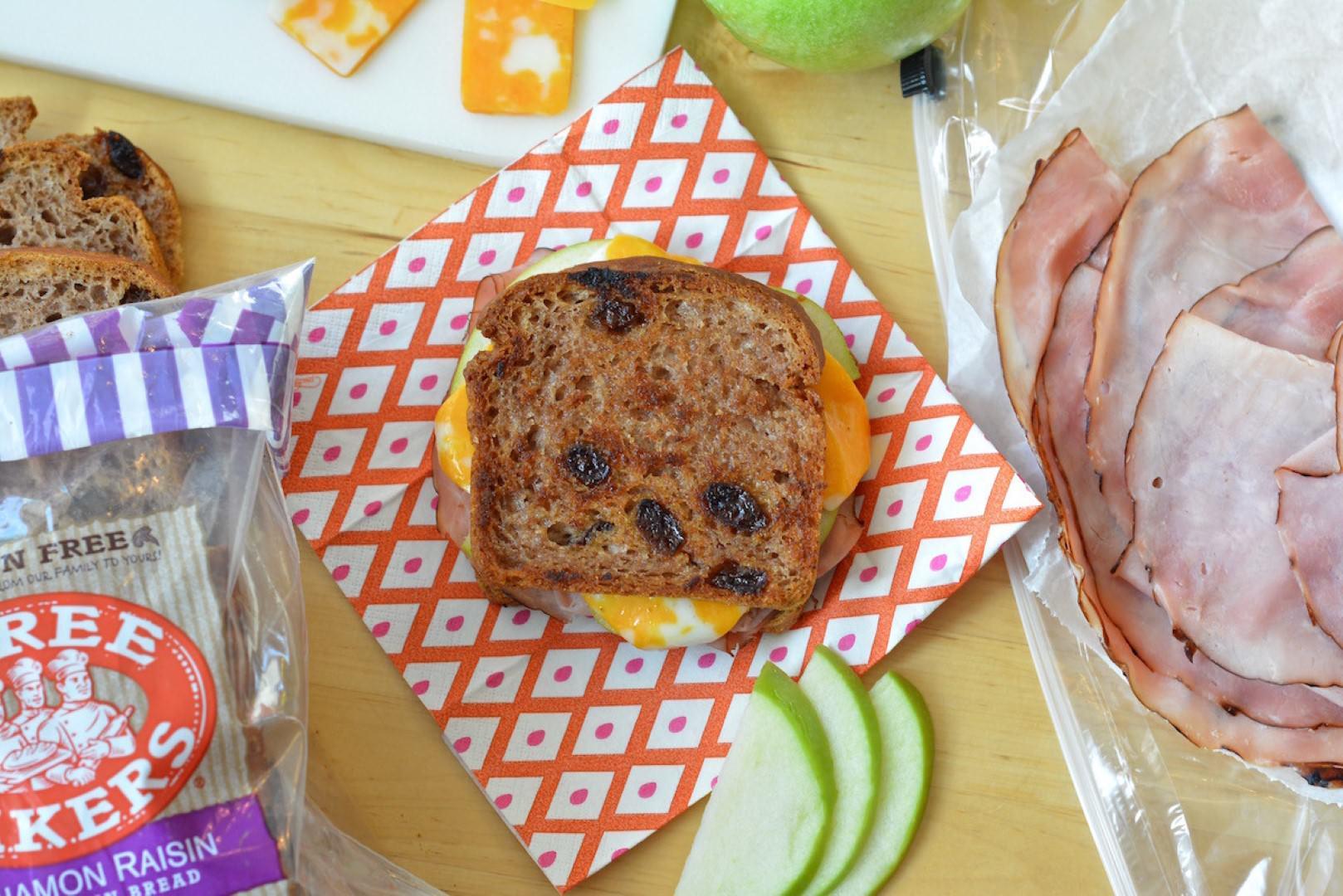 Grilled Ham, Apple & Raisin Bread Sandwich 4