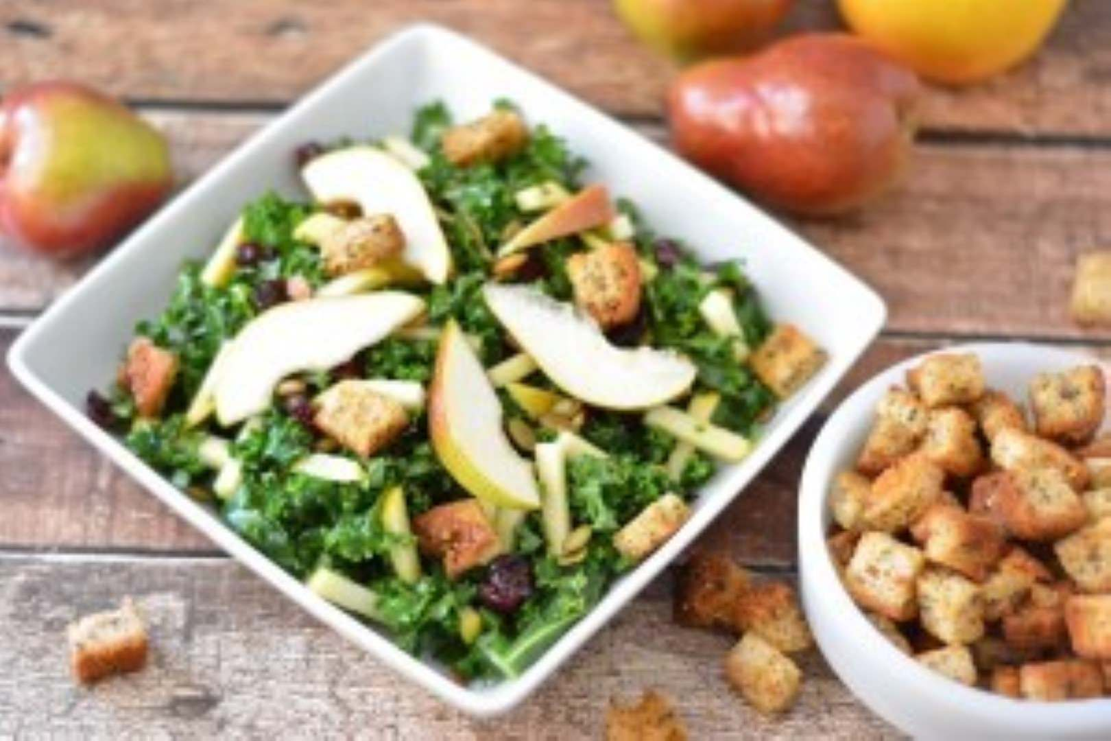 Three Bakers Homemade Croutons & Kale Salad 1