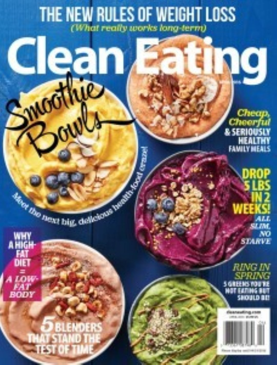 healthy living magazines - clean eating