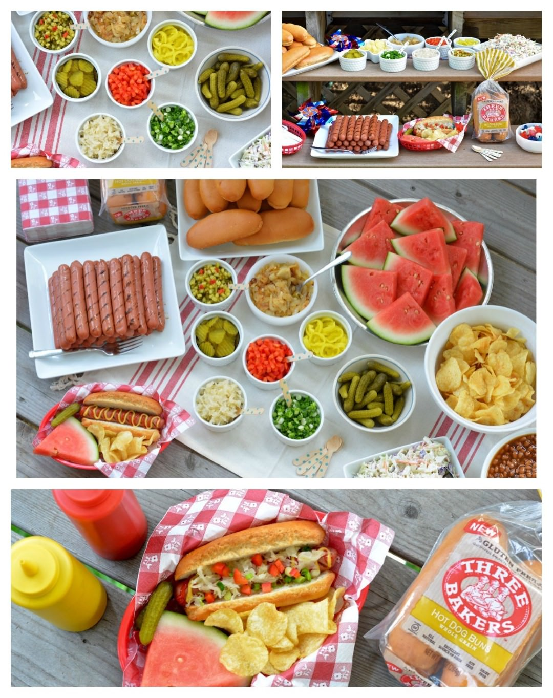 Celebrate Summer with a Festive Hot Dog Bar - Three Bakers