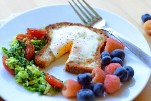 hot breakfast month - egg in a whole