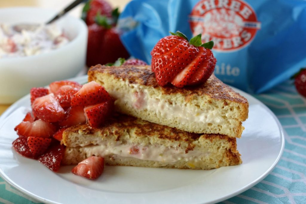 hot breakfast month - strawberry cream cheese french toast