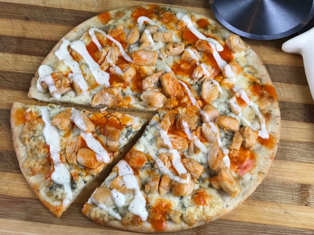 Simple Gluten Free Recipes Gorgonzola Buffalo Chicken Pizza