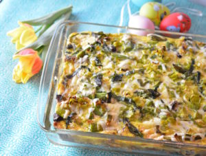 Easy Easter Brunch Recipes - Spring Brunch Asparagus Sausage Strata