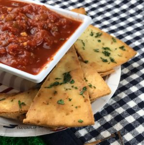 gluten free recipe - pizza chips