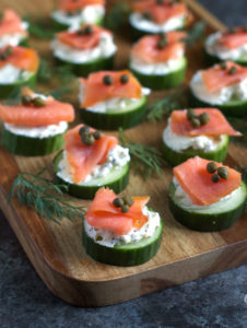 gluten free recipe - cucumber salmon