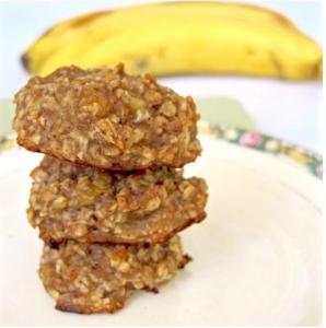 gluten free nibbles - banana cookies