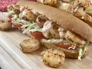 gluten free shrimp po boy
