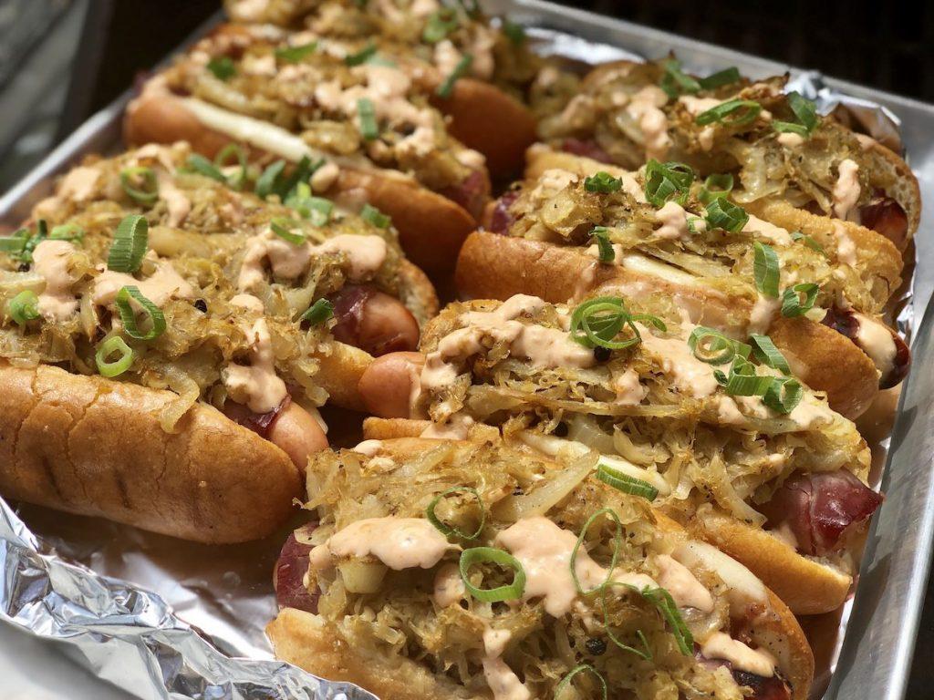 gluten free hot dog reuben style