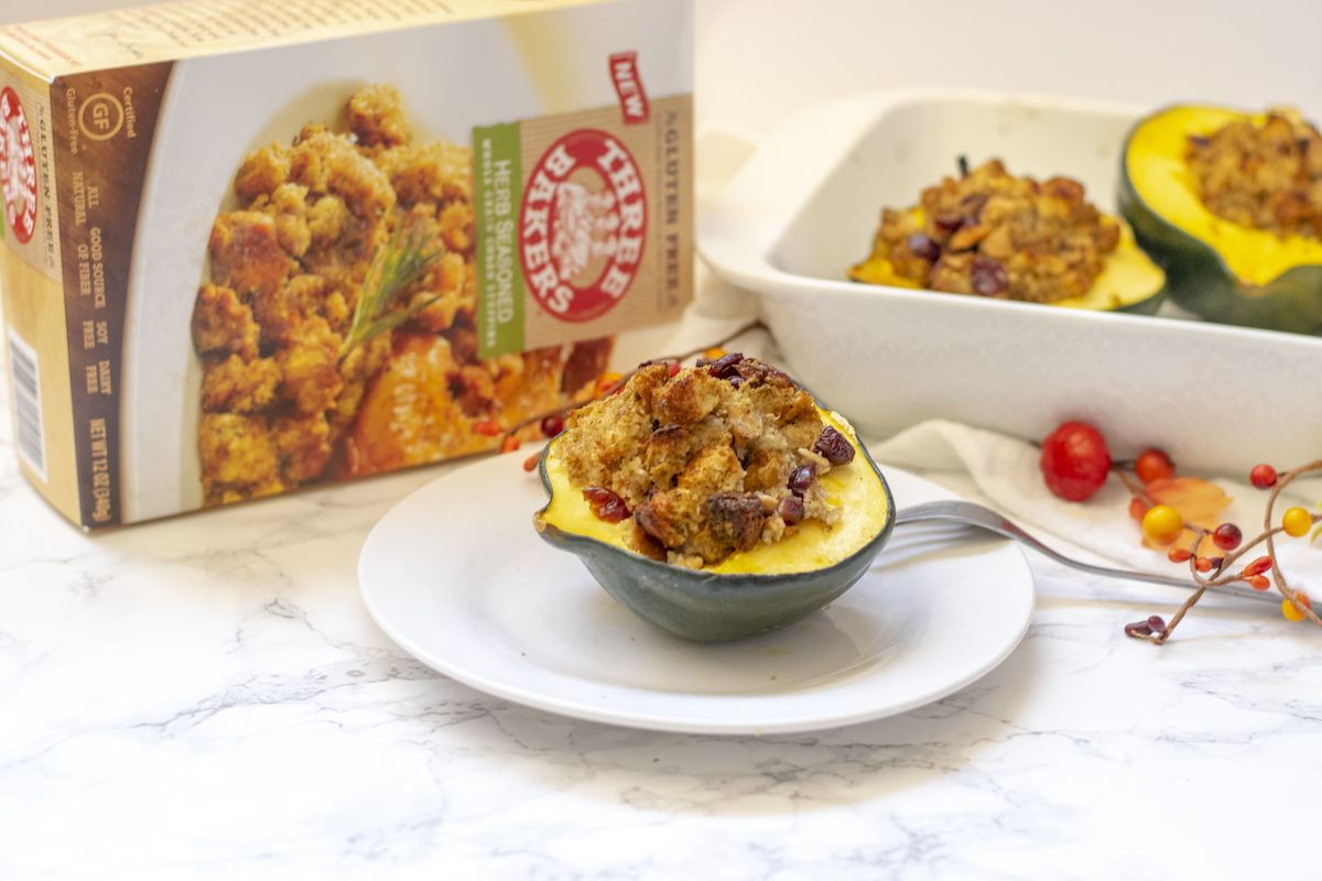gluten free stuffing with acorn squash